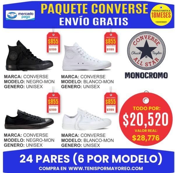 Paquete CONVERSE MONOCROMO